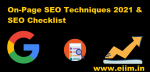 On Page SEO Techniques 2021